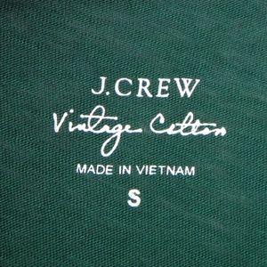 J. Crew Tops - J.Crew Vintage Cotton Small Green Tee T-Shirt